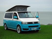 Club di visita di Volkswagen costiero fotografie stock