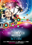 Club Disco Flyer Set with DJs and Colorful backgrounds Royalty Free Stock Images