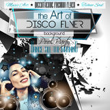 Club Disco Flyer Set with LOW POLY DJs and Music backgrounds Royalty Free Stock Photos