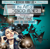 Club Disco Flyer Set with Music Elements and space for text Stock Images