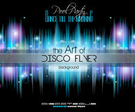 Club Disco Flyer Set with Music Elements and space for text Royalty Free Stock Photos