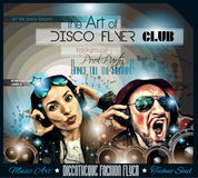 Club Disco Flyer Set with Music themed backgrounds Royalty Free Stock Photography