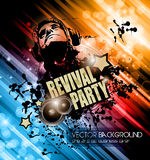 Club Disco Flyer template with Music Elements Stock Photo