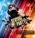 Club Disco Flyer template with Music Elements , Colorful Scalable backgrounds Royalty Free Stock Image