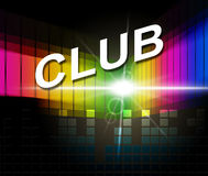 Club Disco Means Membership Audio And Association Royalty Free Stock Photography