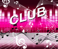 Club Disco Shows Sound Track And Acoustic Stock Image
