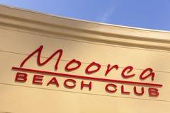 Club en Las Vegas, nanovoltio de la playa de Moorea el 19 de abril de 2013 Foto de archivo libre de regalías