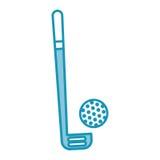 Club et boule de golf bleus Photographie stock