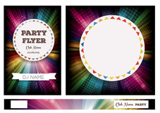 Club Flyers with copy space and rainbow background Royalty Free Stock Photography
