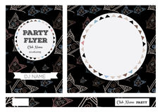 Club Flyers with copy space Stock Photography