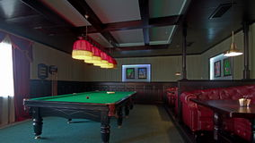 Club For A Game Of Billiards. stock video
