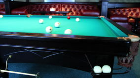 Club For A Game Of Billiards. stock footage