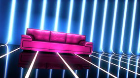 Club glamour interior with sofa stock footage