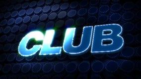 Club Glitz Sparkle Text stock footage