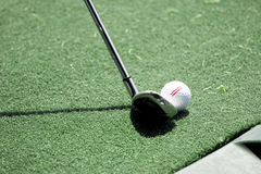 Club and golfball Royalty Free Stock Images