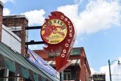 Club Handig op Beale-Straat, Memphis, TN stock foto's
