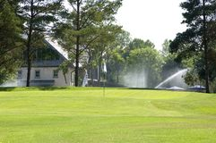 Club house at the golf course Stock Image