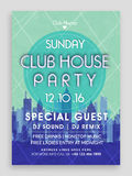 Club House Party Flyer, Template or Banner design. Club House Party Template, Dance Party Flyer, Night Party Banner design. Creative illustration with view of royalty free illustration