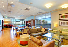 Club house with pool table and rest area. Residential building Royalty Free Stock Images