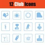 Club icon set Stock Photo