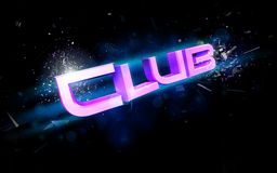 Club illustration Royalty Free Stock Photos