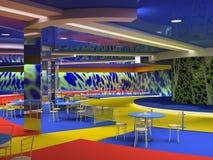 Club interior. Design of the cool night club interior (3D Stock Image