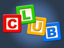 Club Kids Blocks Means Join Membership And Clubs stock illustration