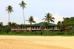 The Club Koggala Beach. View from the beach Royalty Free Stock Image