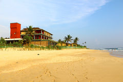 Club Koggala Village. View from the beach Stock Photography