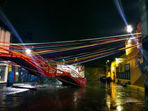 Club Konex alla notte il giorno piovoso immagini stock