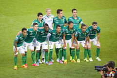 Club Leon players Royalty Free Stock Image