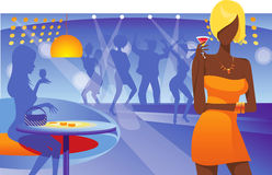 Club Life. Dancing people in an underground club Royalty Free Stock Images
