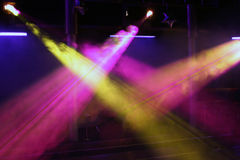 Club light. Setting a club sound and light Stock Photo