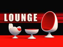 Club Lounge. Clube Lounge egg chair red royalty free illustration