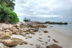 Club Med, Bintan, Indonesia. The gorgeous beach at Club Med Bintan stock photos