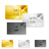 Club member metal modern cards template Royalty Free Stock Photo