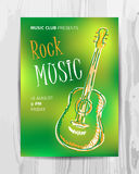 Club music concert poster Royalty Free Stock Images