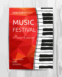 Club music concert poster Stock Photo