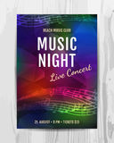 Club music concert poster Royalty Free Stock Photography