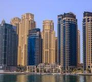 Club náutico de la torre del lago, Dubai Imagenes de archivo