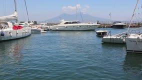 Club náutico en Napoli almacen de video