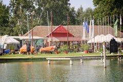 Club náutico en Palic Foto de archivo