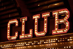 Club neon sign Stock Photos