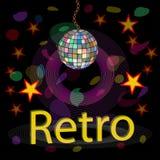 Club nocturno del vector Estilo retro Foto de archivo libre de regalías