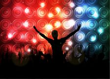Club party with dancing people. Illustration of Club party with dancing people Royalty Free Stock Images
