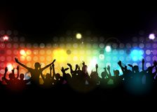 Club party with dancing people. Illustration of Club party with dancing people Stock Photo