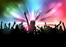 Club party with dancing people. Illustration of Club party with dancing people Stock Images