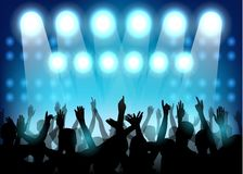 Club party with dancing people. Illustration of Club party with dancing people Stock Photography
