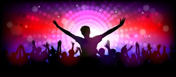 Club party with dancing people. Illustration of Club party with dancing people Royalty Free Stock Image