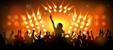 Club party with dancing people. Illustration of Club party with dancing people Royalty Free Stock Photos